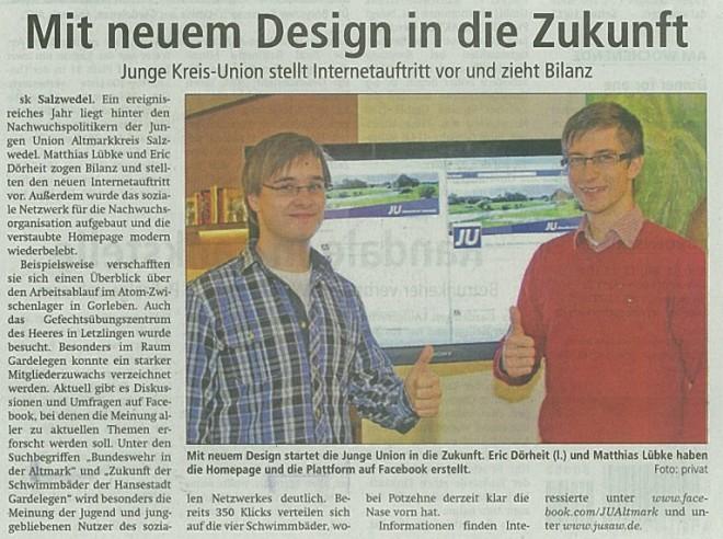 Mit neuem Design in die Zukunft - AZ 28.12.12